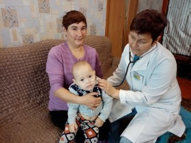 В д.Халилово Караидельского района Центр здоровья из г.Бирска организовал медицинское обследование селян